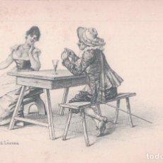Postales: POSTAL ILUSTRADA POR E LANDRY. GALANTERIE DE MOUSQUETAIRE - E. LANDRY - CLÉMENT, TOURNIER ET CIE, GE. Lote 62532564