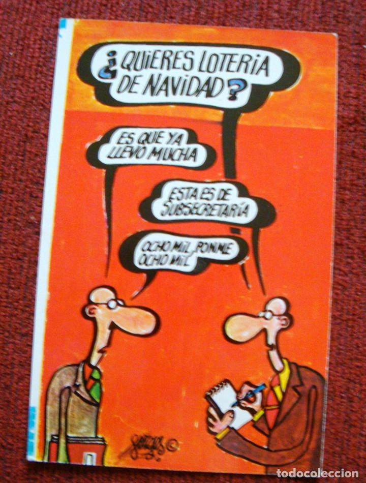 Imagenes Loteria Navidad.Postal Dibujo Humoristico Loteria Navidad Forges Serie G Nº 4 1974 Escrita 1977