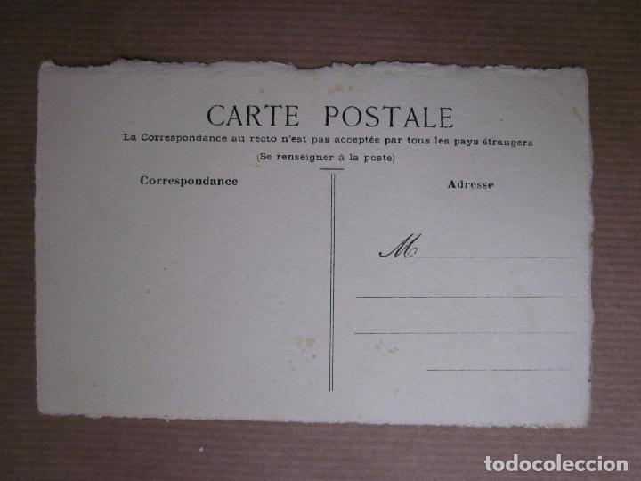 Postales: BONITA POSTAL PINTADA A MANO. SEÑORA LAZO EN PELO Y FLORES - Foto 3 - 64666039