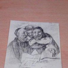 Postales: MUSEO DEL PRADO. GOYA. RELIGIOSOS CANTANDO. FOTOTIPIA HAUSER Y MENET. Lote 65689822
