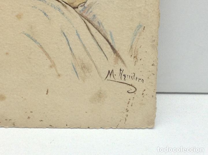 Postales: POSTAL PINTADA A MANO FIRMADA POR M.AGNITER .ESCRITA - Foto 2 - 66194050