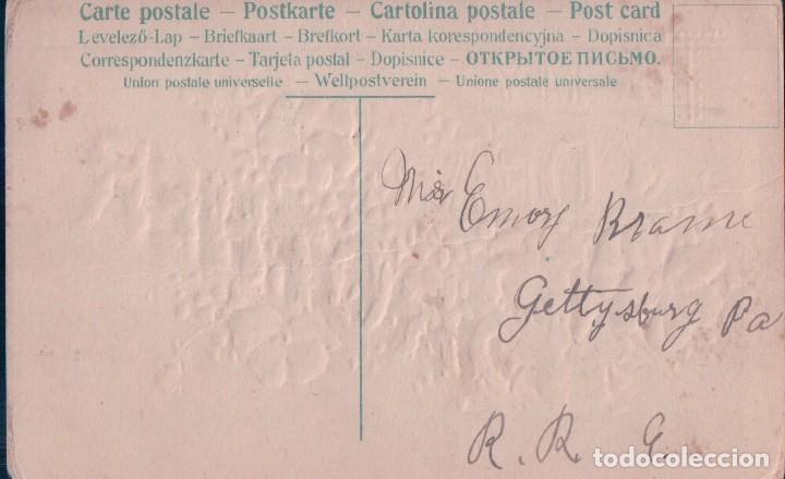 Postales: POSTAL DIBUJO CON DEDICATORIA, A MI MEJOR HERMANO. RELIEVES, DIFERENTES LETRAS Y FLORES - Foto 2 - 66333458