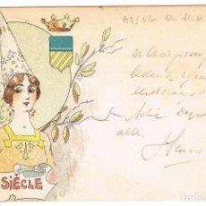 Postales: POSTAL ILUSTRADA POR JACK ABEILLÉ. XIII SIECLE. Lote 69253413
