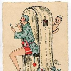 Postales: POSTAL: MUJER, ILUSTRADA H. CH. WIEN. SIN CIRCULAR. Lote 69620297