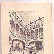 Postales: DIBUJOS A LA PLUMA DE DESIDERIO JUSTE VISTAS DE BARCELONA ANTIGUA Y BARRIO GOTICO CALLE DEL OBISPO I. Lote 70438173