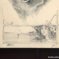 Postales: ILUSTRADOR *JOSÉ ARIJA* DIBUJO ORIGINAL SOBRE TARJETA POSTAL. AÑO 1903.. Lote 199016
