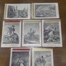 Postales: BONITA COLECCIÓN DE 7 POSTALES CON REPRODUCCIÓN DE GRABADOS DE LOS AÑOS 1824 AL 1830 -. Lote 73532655