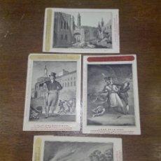 Postales: BONITA COLECCIÓN DE 4 POSTALES CON REPRODUCCIÓN DE GRABADOS DE LOS AÑOS 1824 AL 1830 - . Lote 73532919