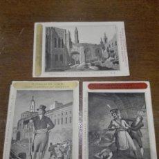 Postales: BONITA COLECCIÓN DE 3 POSTALES CON REPRODUCCIÓN DE GRABADOS DE LOS AÑOS 1824 AL 1830 - . Lote 73533487