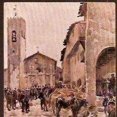 Postales: ANTIGUA POSTAL Nº 27 CATALUÑA ARTISTICA MERCADO STA PAU OLOT EDITOR FENIX COMP. Lote 74138703
