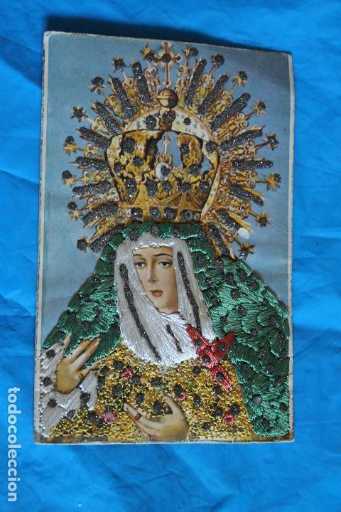 Postal En Relieve Bordada Virgen De La Macare Vendido En Venta
