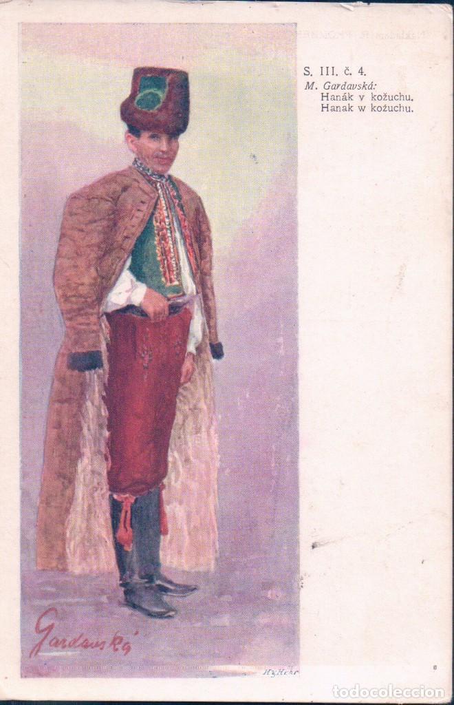 RAKOUSKO-UHER, HANAK V KOZUCHU, COSTUME, MARIE GARDOVSKA (Postales - Postales Temáticas - Dibujos originales y Grabados)