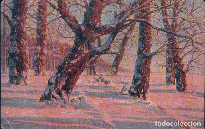 POSTAL DIBUJO - TARDE DE INVIERNO - DEGI 1131 (Postales - Postales Temáticas - Dibujos originales y Grabados)