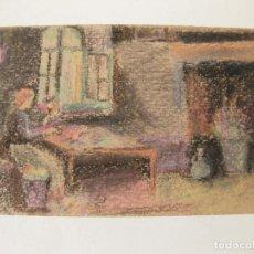 Postales: TARJETA POSTAL PINTADA. FIRMADA J V. ORIGINAL. . Lote 78068065
