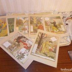 Postales: LOTE 8 POSTALES TIPO LIBRO,MIDEN 21X15 MESES DEL AÑO IMPRESASHOLLAD1977 NUEVAS RESTO LIBRERIA. Lote 79561257