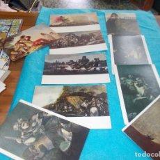 Postales: COLECCION DE 10 POSTALES DE CUADROS DE GOYA MUSEO DEL PRADO .. Lote 79593949