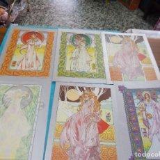 Postales: LOTE DE 6 POSTALES TIPO LIBRO ,MIDEN 21X15 ,EDITADAS EN HOLLAND1977,SON RESTO DE LIBRERIA. Lote 79594181