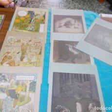 Postales: LOTE 7 POSTALES TIPO LIBRO ,SURTIDAS ,EDITADAS EN HOLLAND AÑOS 90. Lote 79594425