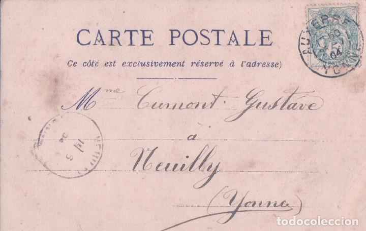 Postales: POSTAL NO TE OLVIDES DE MI - K. F. EDITADA EN PARIS - FLORES -MYOSOTIS NE M'OUBLIEZ PAS - CIRCULADA - Foto 2 - 80004161