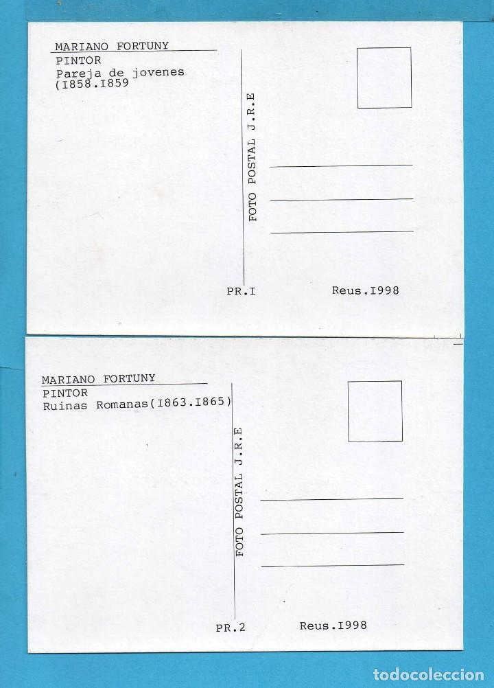 Postales: Cuatro Fotos Postal de J. R. E. de Cuadros de Mariano Fortuny de Reus - Foto 4 - 80179209