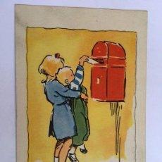 Postales: RM400 TARJETA POSTAL AÑOS 40/50 DIBUJO . Lote 83039280