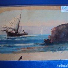 Postales: (PS-51714)DIBUJO ORIGINAL SOBRE POSTAL. Lote 83284256