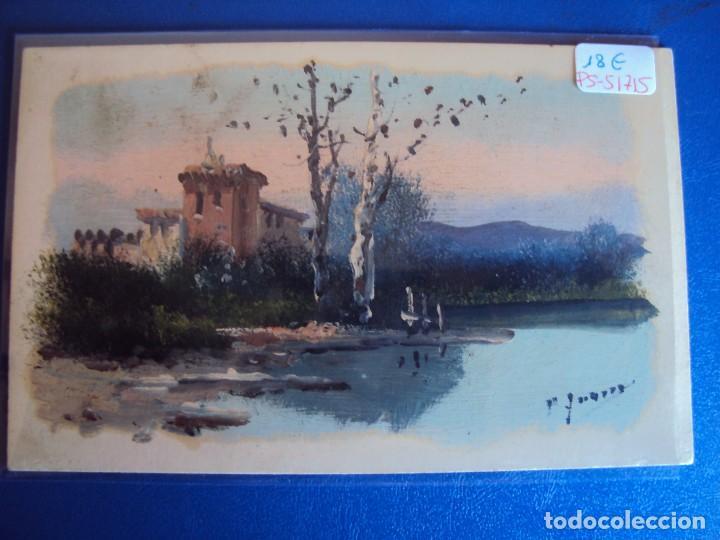 (PS-51715)DIBUJO ORIGINAL SOBRE POSTAL (Postales - Postales Temáticas - Dibujos originales y Grabados)