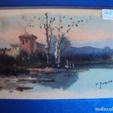 Postales: (PS-51715)DIBUJO ORIGINAL SOBRE POSTAL. Lote 83284500