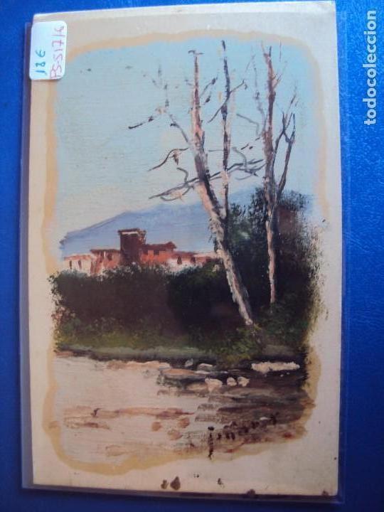 (PS-51716)DIBUJO ORIGINAL SOBRE POSTAL (Postales - Postales Temáticas - Dibujos originales y Grabados)