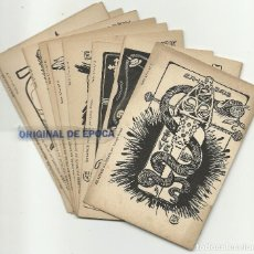 Postales: (PS-52039)COLECCION COMPLETA 10 POSTALES EX LIBRIS POLITICOS ILUSTRADA LORENZO BRUNET REV.SIN DIVID. Lote 93810198
