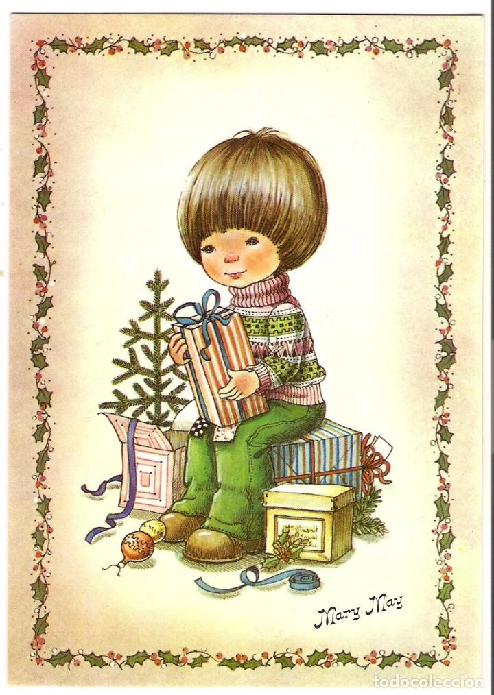 68335 Postal Dibujo Nino En Navidad Ilustraci Comprar Postales - Dibujos-originales-de-navidad