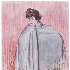 Postales: POSTAL CON ILUSTRACIÓN DE RAMÓN CASAS. J. THOMAS, BARCELONA. CIRCULADA (1906). Lote 91235210