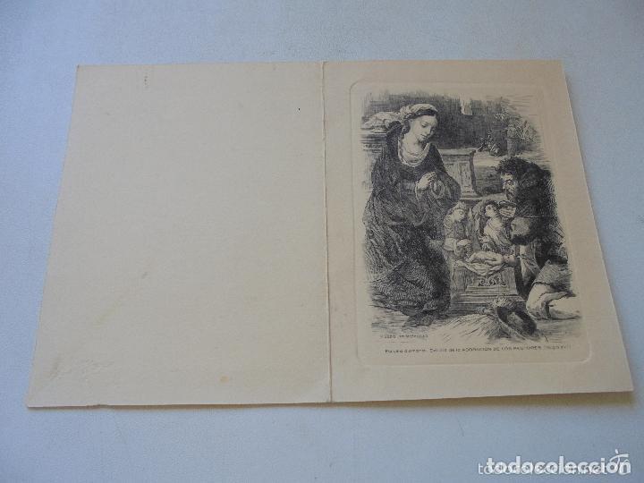 Postales: DOBLE Y USADA-CON GRABADO ( IMPRESO) DE : DETALLE DE LA ADORACIÓN- 1959- - 16.5 X 12.5 CM CERRADA - Foto 4 - 20044093