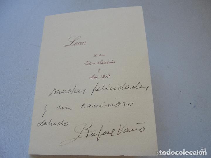 Postales: DOBLE Y USADA-CON GRABADO ( IMPRESO) DE : DETALLE DE LA ADORACIÓN- 1959- - 16.5 X 12.5 CM CERRADA - Foto 5 - 20044093