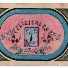 Postales: FELICIDADES 7 ENERO 1915,TARJETA PINTADA A MANO. Lote 91764645