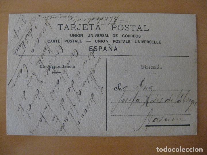 Postales: POSTAL PINTADA A MANO MUJER CON SOMBRERO AÑO 1919 - Foto 2 - 95340919