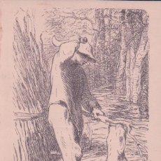 Postales: POSTAL DIBUJO MILLET : LE BUCHERON (MUSÉE DE REIMS) . Lote 96875971