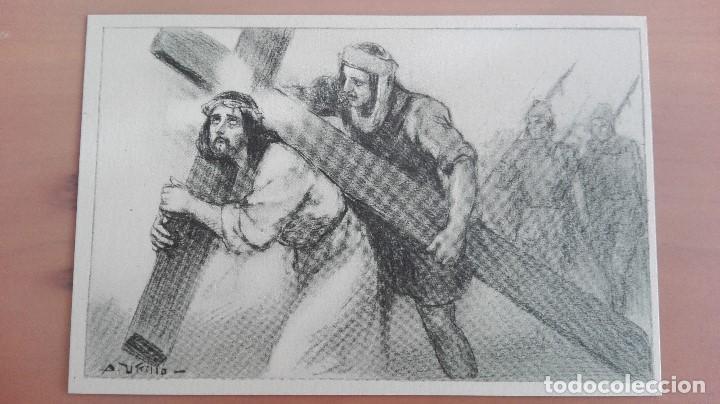 Postal Religiosa Ilustrador Utrillo Via Crucis 5ª Estacion Jesus Es Condenado A Muerte Edic Balmes