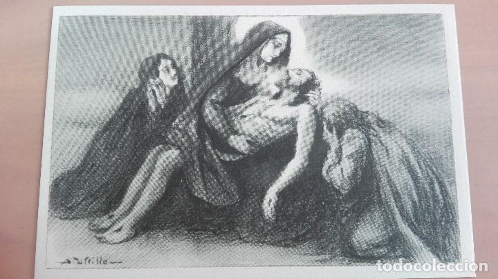 Postal Religiosa Ilustrador Utrillo Via Crucis 13ª Estacion Jesus Es Bajado De La Cruz Edic Balmes