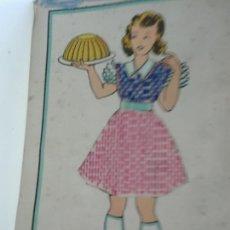 Postales: POSTAL BORDADA Y COSIDA Y CIRCULADA 1957. Lote 102082391