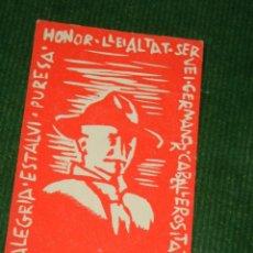 Postales: ANTIGUA ESTAMPA BOY SCOUTS - BADEN POWELL - HONOR. LLEIALTAT. SERVEI.... Lote 104060963