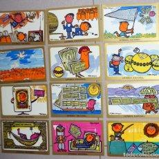 Postcards - COLECCION 12 postales SERIE H COMPLETA LOTERIA nacional DIBUJOS HUMORISTICOS CARBAYO 1977 F N M T - 104603215
