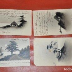 Postales: LOTE DE 4 POSTALES DE MANILA , DE 1905 Y 1906 , CIRCULADAS , PINTADAS A MANO . Lote 106956163