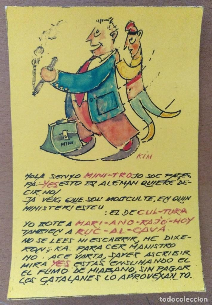 POSTAL DIBUJO ORIGINAL DE KIM 15,5 X 10,5 CM (APROX) (Postales - Postales Temáticas - Dibujos originales y Grabados)