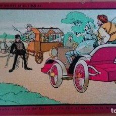 Cartoline: POSTAL DON QUIJOTE EN EL SIGLO XX Nº 15 DON QUIJOTE CON EL CARRO DE LA MUERTE PERFECTA CONSERV. Lote 109333759