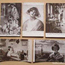 Postales: LOTE DE 5 TARJETAS POSTALES ANTIGUAS ARTÍSTICAS DE A. NOYER. Lote 109624019