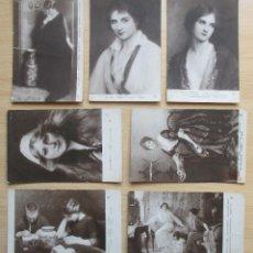 Postales: LOTE DE 7 TARJETAS POSTALES ARTÍSTICAS ANTIGUAS – SALON 1914. Lote 109625011