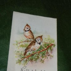 Postales: ANTIGUA POSTAL - PAJAROS - CIMA 512 - ESCRITA 1950. Lote 110146979