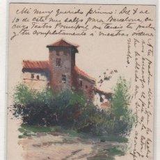 Postcards - Postal pintada a mano paisaje andaluz ilustrador Rius ??? enviada a Paris en 1902 - 113938979