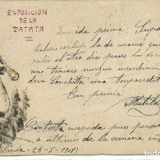 Postales: (PS-55535)POSTAL DIBUJO EXPOSICION DE LA PATATA. Lote 116612411